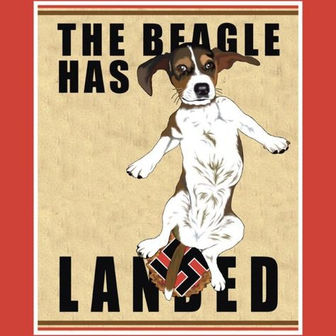 The Beagle Has Landed 11x14 Poster By Raschella On Etsy 20 00