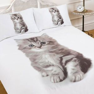 Funda Nordica King Size.A 3d Gatito Gato Animal Print Edredon Funda Nordica Con