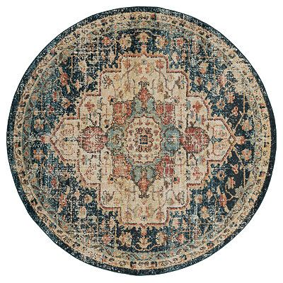 Mara Celene Rich Round Area Rug 7 Ft Area Rugs Colorful Rugs