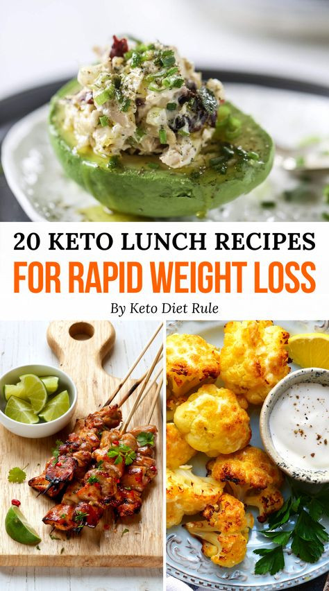 20 Crazy Filling Keto Lunch Ideas for Rapid Weight Loss -  Stay full for hours by preparing one these delicious crazy filling keto lunch recipes. Great for lu - #Crazy #filling #Ideas #Keto #Loss #Lunch #lunchrecipes #Rapid #Weight