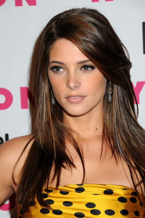 Ashley Greene Long Hairstyle - I like her color... wouldn't mind this on my head.