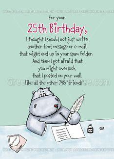 25th Birthday Wishes Funny : birthday, wishes, funny, Funny, Happy, Birthday, Messages