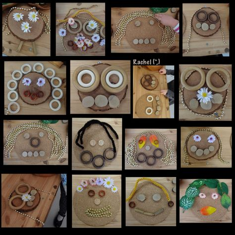 """Transient art faces at the Discovery Table from Rachel ("""",)"""