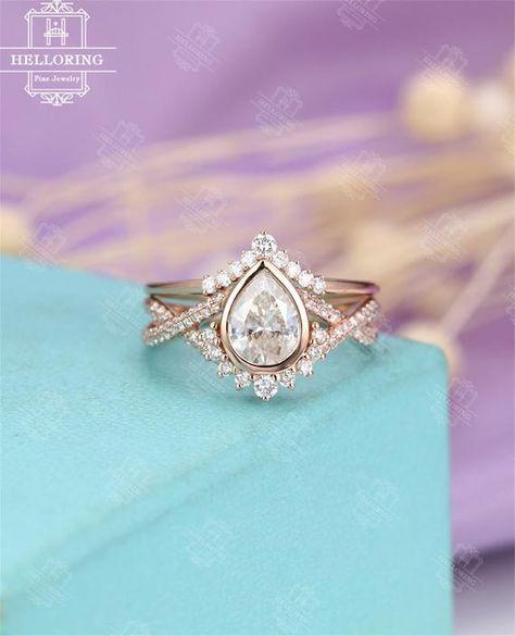 Charmant Femmes Fashion Jewelry OVAL CUT Morganite /& White Topaz Gems silver ring