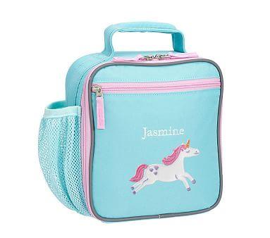 c9323953b5ab36 Fairfax Solid Aqua w/ Pink Trim Classic Lunch Bag | *Backpacks ...