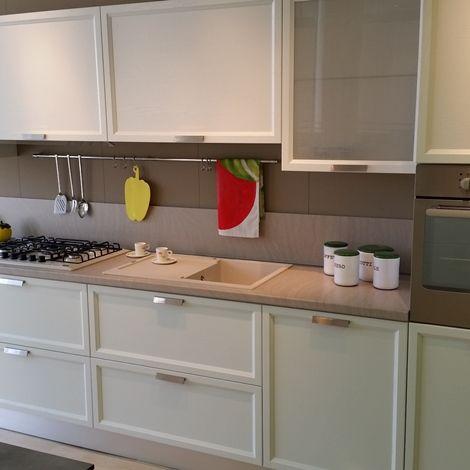 La Cucina Atelier Scavolini con ante in rovere bianco assoluto ...