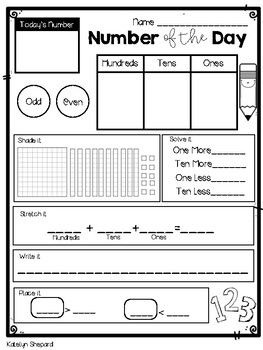 Number Of The Day Worksheet With Images Classroom Routines