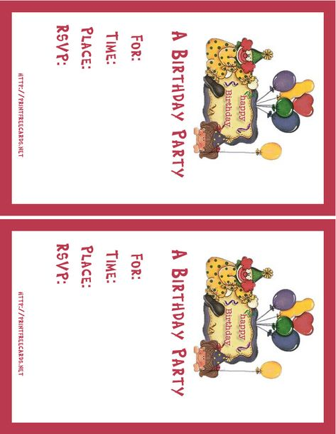 Free Birthday Invitations Maker Printable Birthday