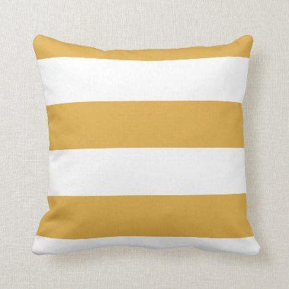 Trend Colors Decorative Yellow White Stripe Modern Throw Pillow Zazzle Com Modern Throw Pillows Throw Pillows Pillows