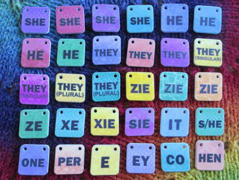 ADD-ON Genderfluid Pronouns Necklace 1 or 2 Additional