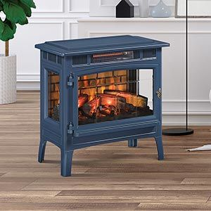 Duraflame 3d Navy Infrared Electric Fireplace Stove With Remote Control Dfi 5010 07 Duraflame Electric Fireplace Stove Fireplace Electric Stove Fireplace
