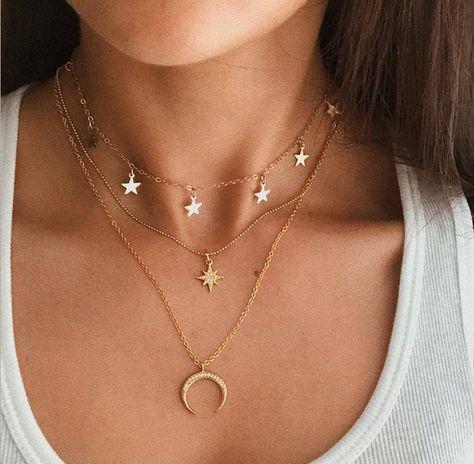 Star Necklace, Boho Necklace, Fashion Necklace, Necklace Set, Fashion Jewelry, Layered Necklace, Multi Layer Necklace, Layered Jewelry, Fashion Fashion