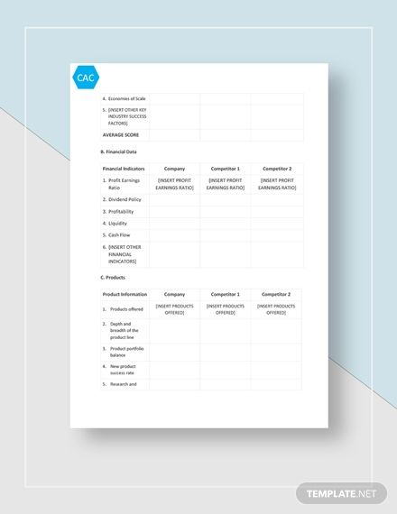 Competitive Analysis Chart Template Free Pdf Google Docs Word Template Net Competitive Analysis Analysis Templates