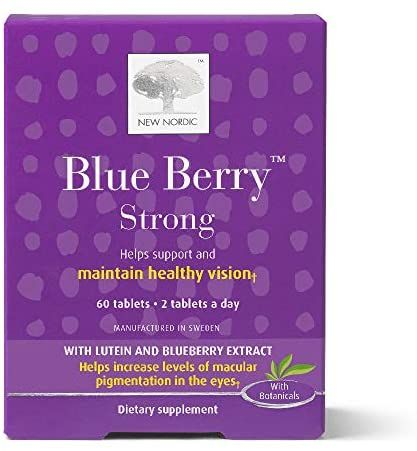 New Nordic Blue Berry Strong 60 Tablets Pack Of 1 In 2020 New Nordic Berries Apple Cider Vinegar Tablets
