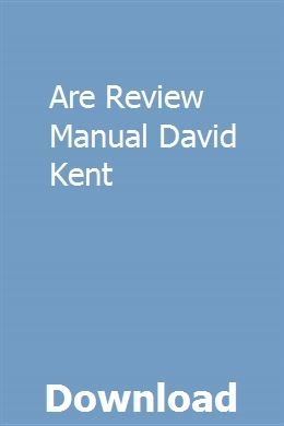 Are Review Manual David Kent Owners Manuals Repair Manuals