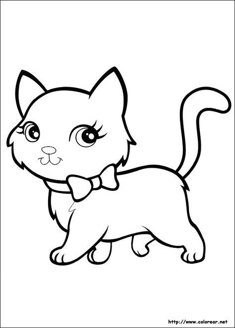 Dibujo De Para Imprimir Gatito Para Colorear Gatos Para