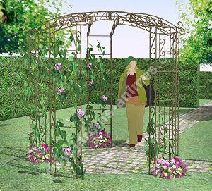 Gloriette kiosque en fer 5 pieds Diam. 2.42m   Jardins ...