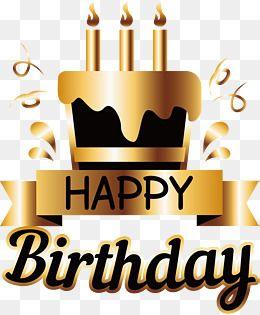 Golden Birthday Cake Poster Happy Birthday Qoutes Birthday