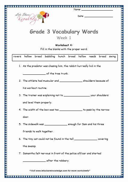 9th Grade Vocabulary Worksheet Lovely Grade Vocabulary Words And Worksheets Lets Knowledge Vocabulary Worksheets Vocabulary Words Vocabulary