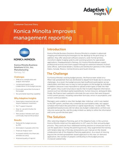 McKinstry case study final by Adaptive Insights via slideshare - capital budgeting spreadsheet