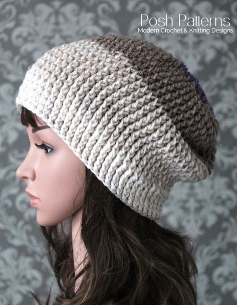c2a2956af92 This incredibly elegant crochet slouchy hat pattern features a luxurious