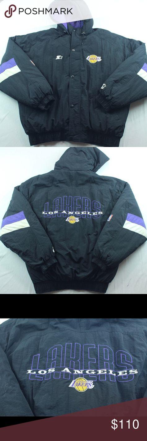 Vintage Lakers Starter Jacket Size Xl Black Purple We Appreciate Your Interest For Sale Vintage Los Angeles Lakers Starter Jac Jackets Athletic Jacket Mens Xl