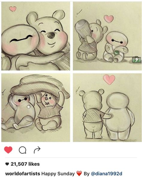 How adorable Winnie the Pooh & Baymax