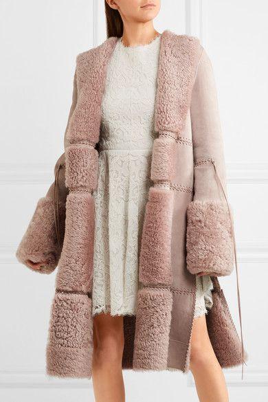 Pin By Tatiana Tati On Things To Wear Shearling Coat Outerwear Women Alexander Mcqueen