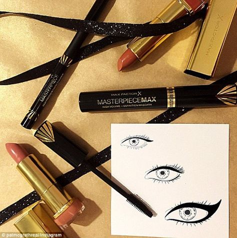 So glam! The Max Factor collection includes two lip colors, a liquid eyeliner and a mascar...