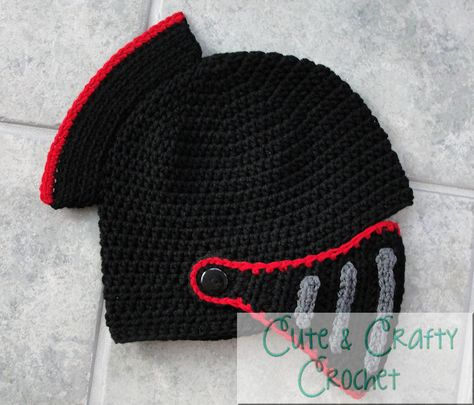 Crochet Pattern PDF Sir Knight Helmet by Cutecraftycrochet