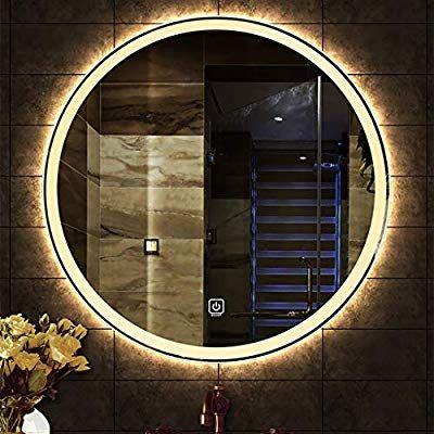 Led Beleuchtet Badezimmer Spiegel Runde Wohnzimmer Wand Hd