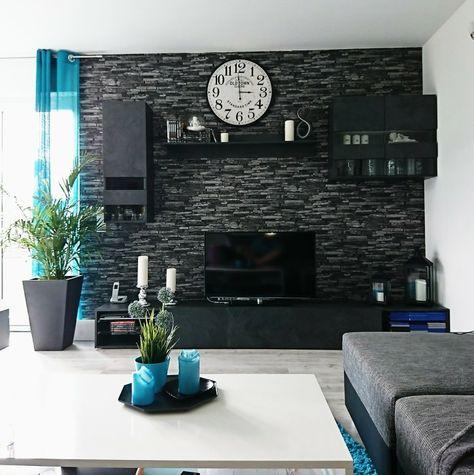Wohnzimmer Steintapete Steintapete Wohnen Wohnung