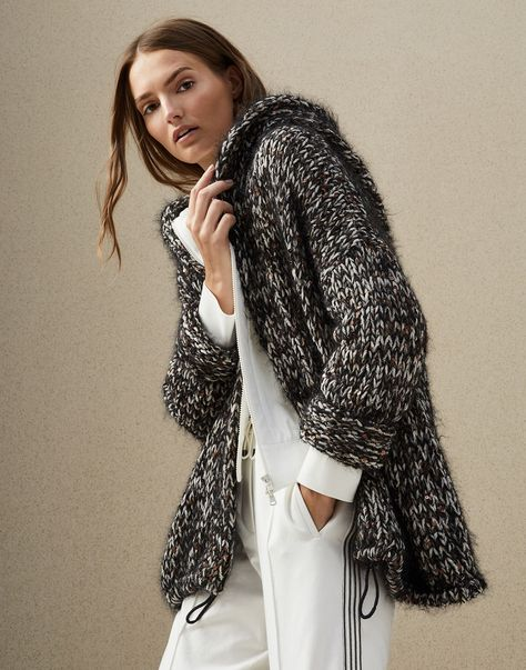 Cardigan Anthracite Woman 5 - Brunello Cucinelli