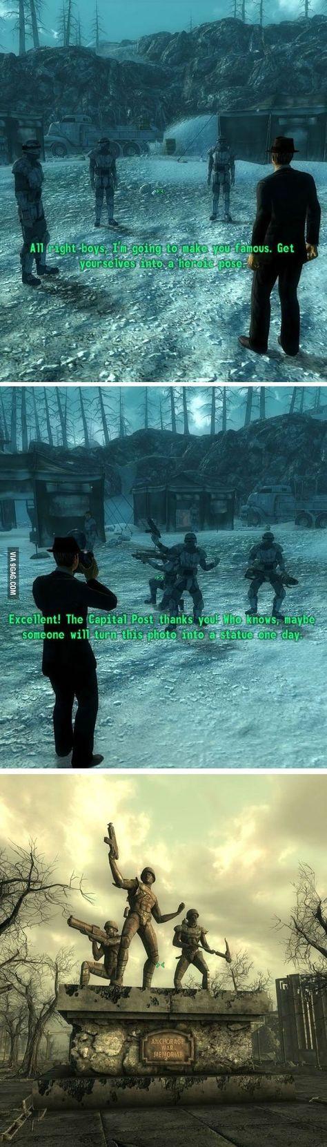 First let me take a selfie Fallout