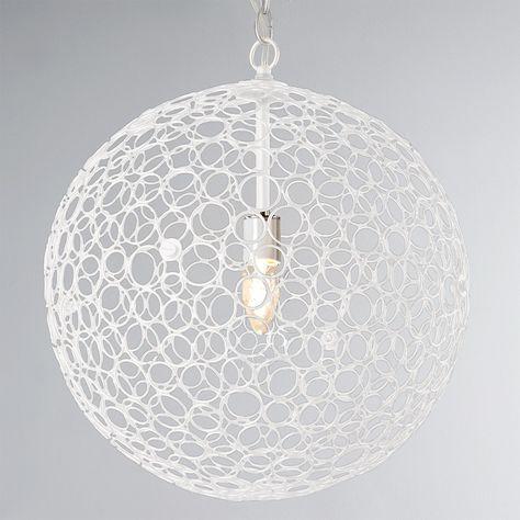 Circles Sphere Pendant Light - Large white