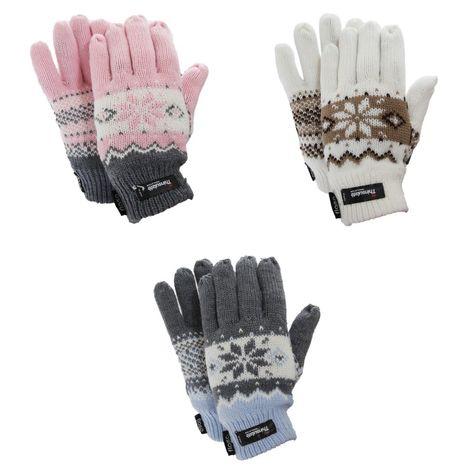 Ladies//Womens Fairisle Patterned Winter Gloves
