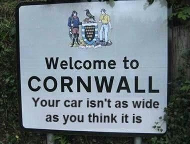 Cornwall Cottage Rental Properties ..... Oh, SO TRUE!  Gouged the side of our rental car as we traveled through the hedgerows just west of Mousehole.