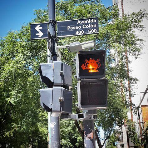 Semáforos GATURRO en San Telmo
