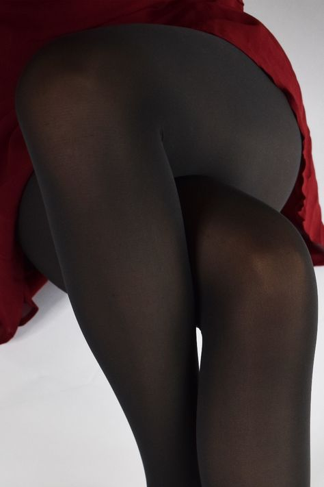 Pantyhose Outfits, Nylons And Pantyhose, Nylons Heels, Stockings Heels, Stockings Lingerie, Black Stockings, Opaque Tights, Black Tights, Sexy Legs And Heels