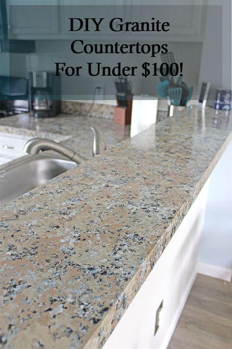 Diy Granite Countertops Yes Really Budget Kitchen Remodel Granite Countertops Kitchen On A Budget