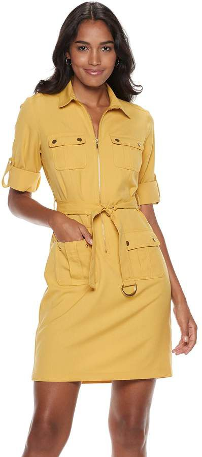 huge inventory running shoes exquisite style Women's Sharagano Zip-Front Shirt Dress in 2019 | Dresses, Shirt ...