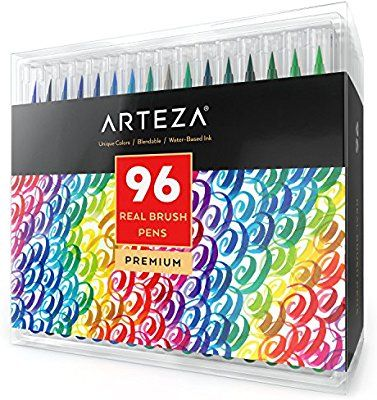 Arteza Pinselstift Set Hochwertige Brush Pen Fasermaler