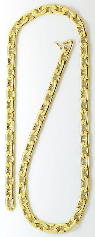 Goldkette herren massiv 750