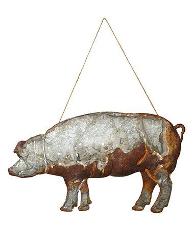 Antiqued Metal Pig Wall Art Zulily Zulilyfinds Pig Wall Art Galvanized Decor Wall Art