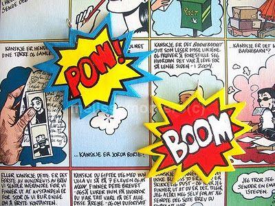 Craft Tutorials Galore at Crafter-holic!: Comic Book Decorations