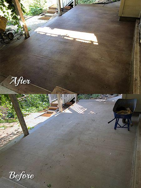 Color Mist One Gallon Concrete Stain Patio Paint Concrete