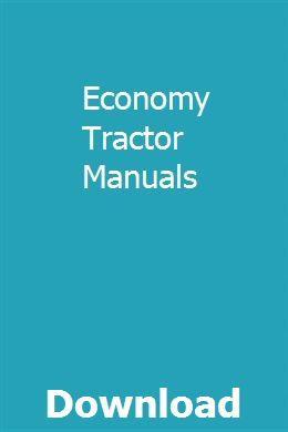 Economy Tractor Manuals | lightikbover