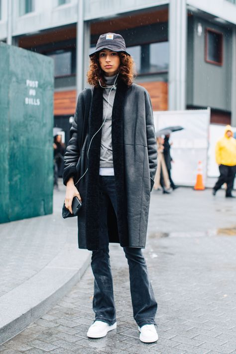 Click through for the best street style looks spotted at New York Fashion Week Fall/Winter as captured live by Sandra Semburg.