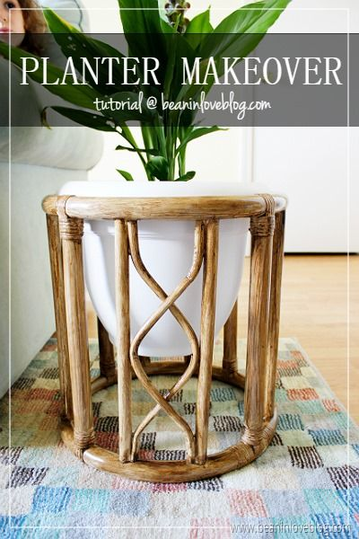 End Table To Planter Diy Mid Century Modern Plant Stand Modern