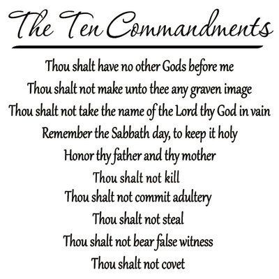Winston Porter Craster Arms 10 Commandments Wall Decal